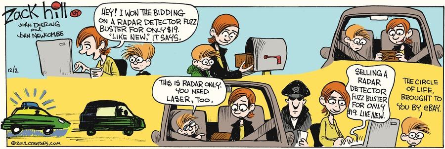 Zack Hill for Dec 2, 2012 Comic Strip