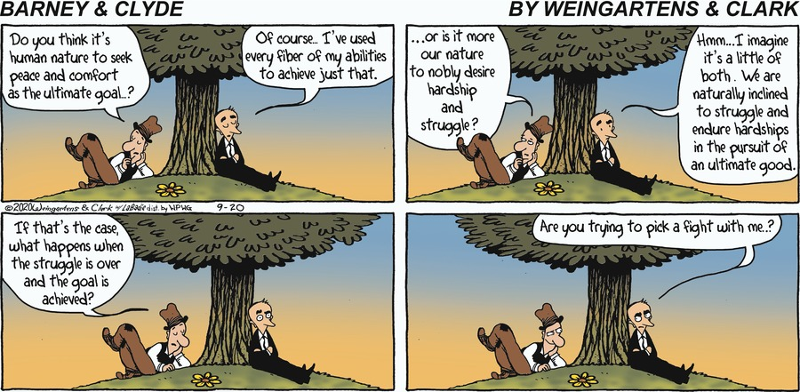 Barney & Clyde by Gene Weingarten, Dan Weingarten & David Clark on Sun, 20 Sep 2020