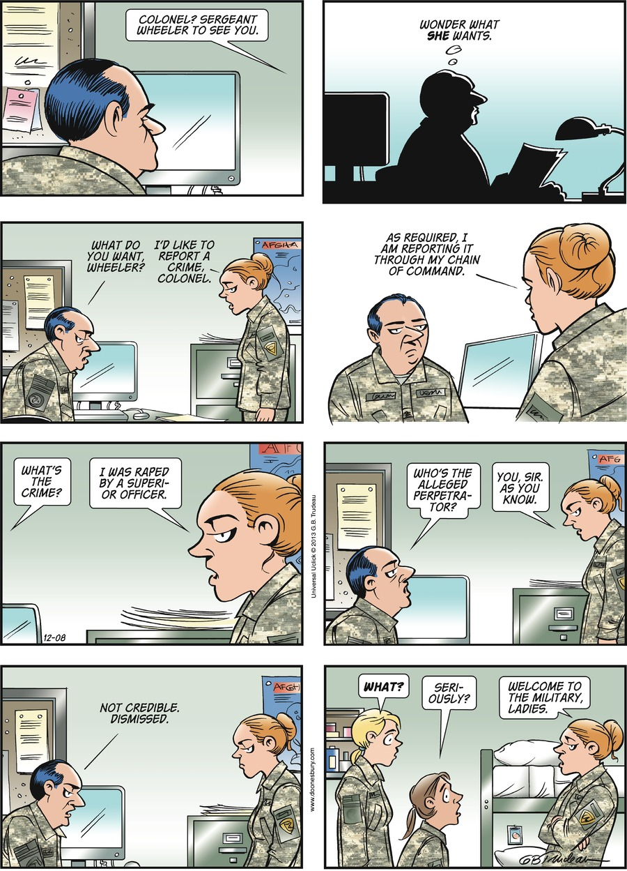 Doonesbury Comic Strip for December 08, 2013