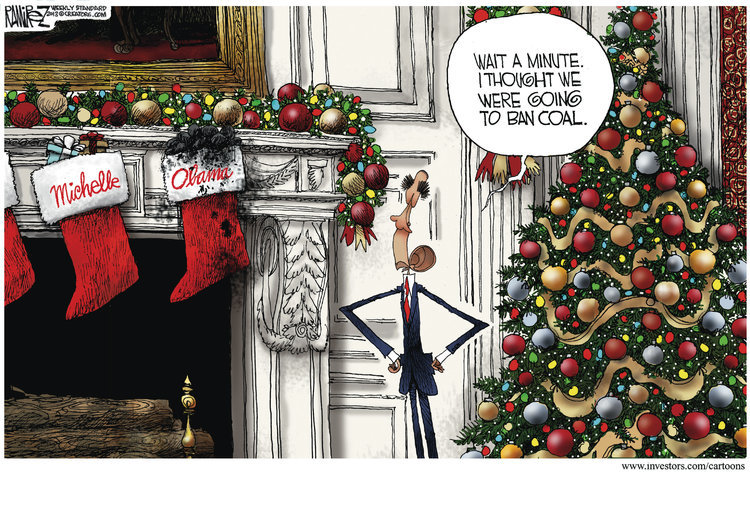 Coal Filled Stocking cartoon