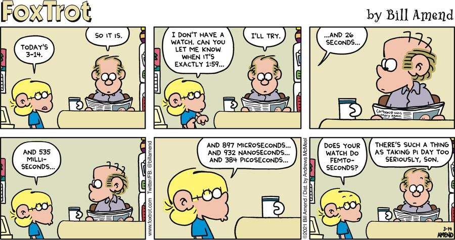 FoxTrot Comic Strip for March 14, 2021
