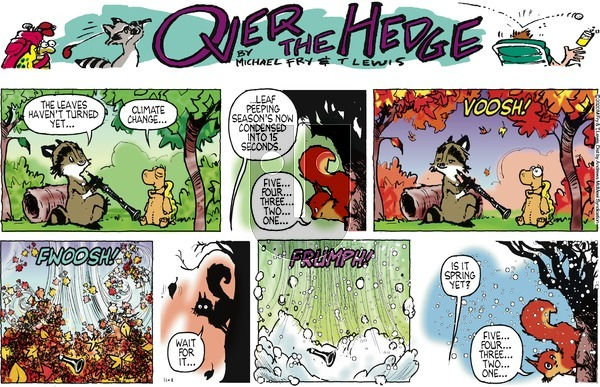 Over the Hedge on Sunday November 1, 2020 Comic Strip