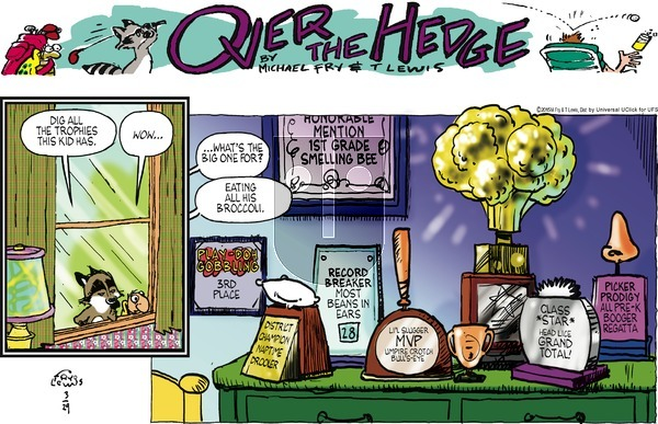 Over the Hedge on Sunday March 29, 2015 Comic Strip