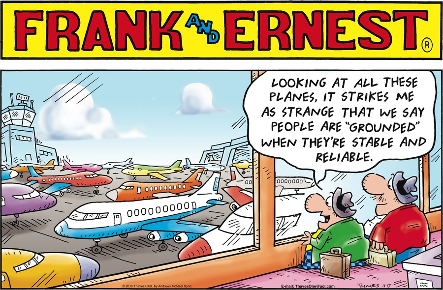 Frank and Ernest Comic Strip for November 17, 2019