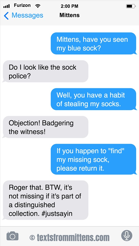 Texts From Mittens by Angie Bailey for September 22, 2019