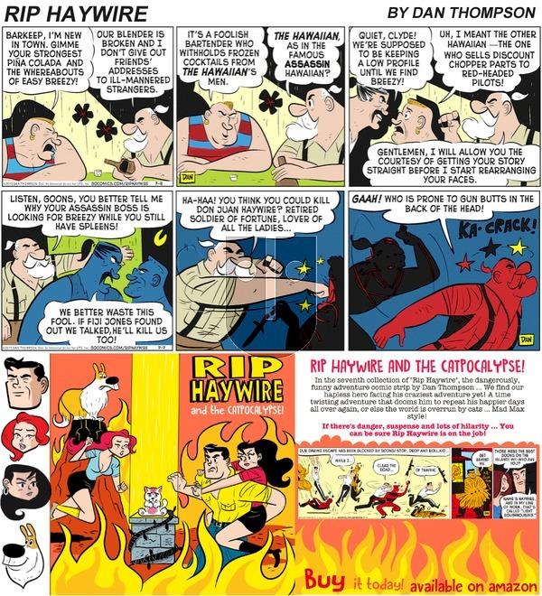 Rip Haywire on Sunday October 15, 2017 Comic Strip