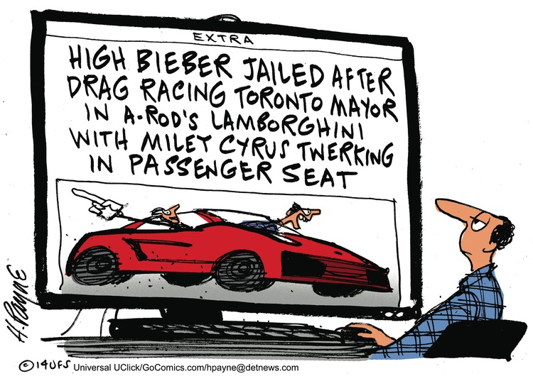 High Bieber jailed after drag racing Toronto mayor in A-Rod's Lamborghini with Miley Cyrus twerking in passenger seat