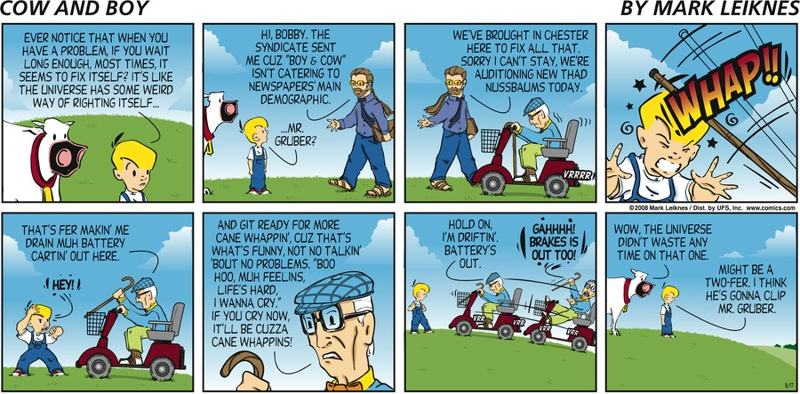Cow and Boy Classics Comic Strip for August 17, 2008