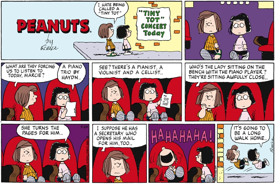 Peanuts Comic Strip for May 24, 1998