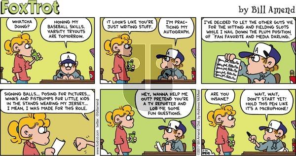FoxTrot on Sunday March 26, 2017 Comic Strip