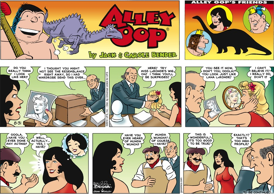 Alley Oop for Aug 31, 2014 Comic Strip