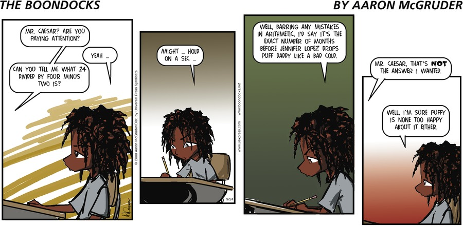 The Boondocks Comic Strip for December 06, 2015