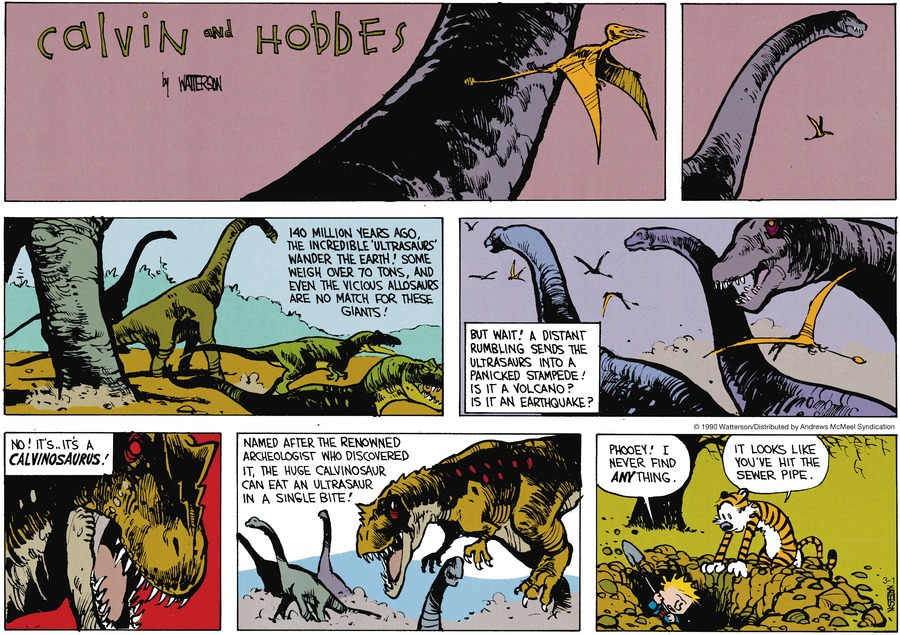 Calvin and Hobbes Comic Strip for March 01, 2020