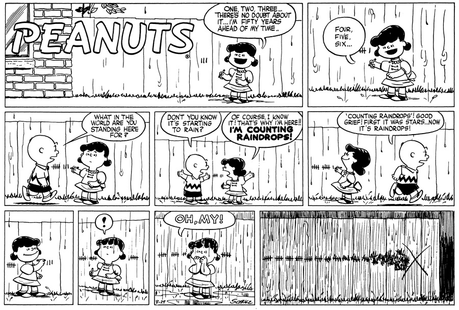 Peanuts Comic Strip for August 29, 1954