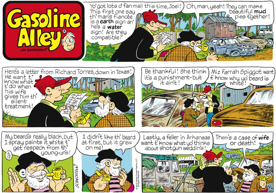 Gasoline Alley Comic Strip for April 12, 2015