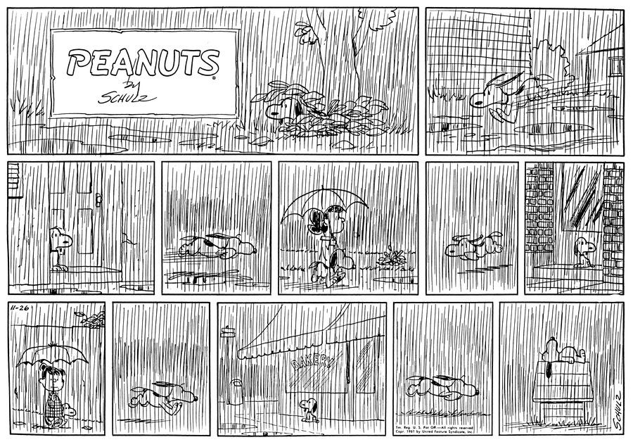Peanuts Comic Strip for November 26, 1961