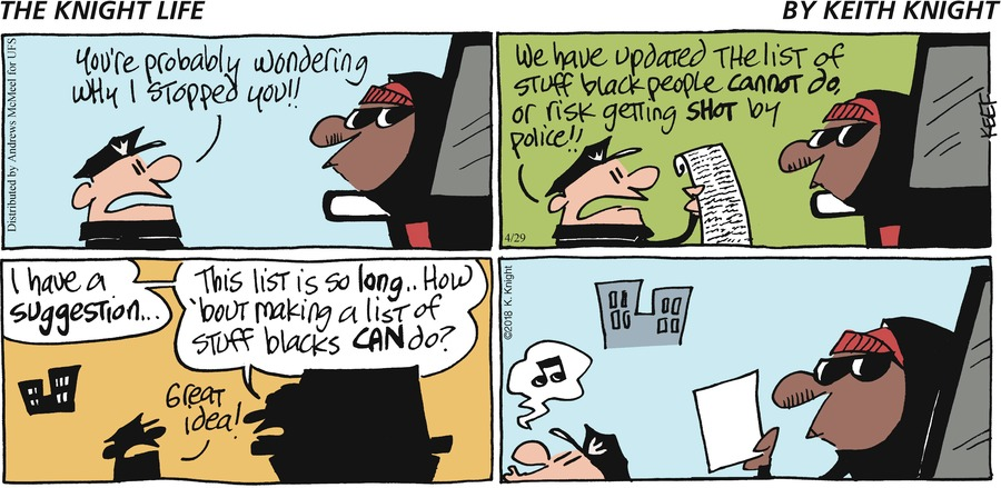 The Knight Life Comic Strip for April 29, 2018