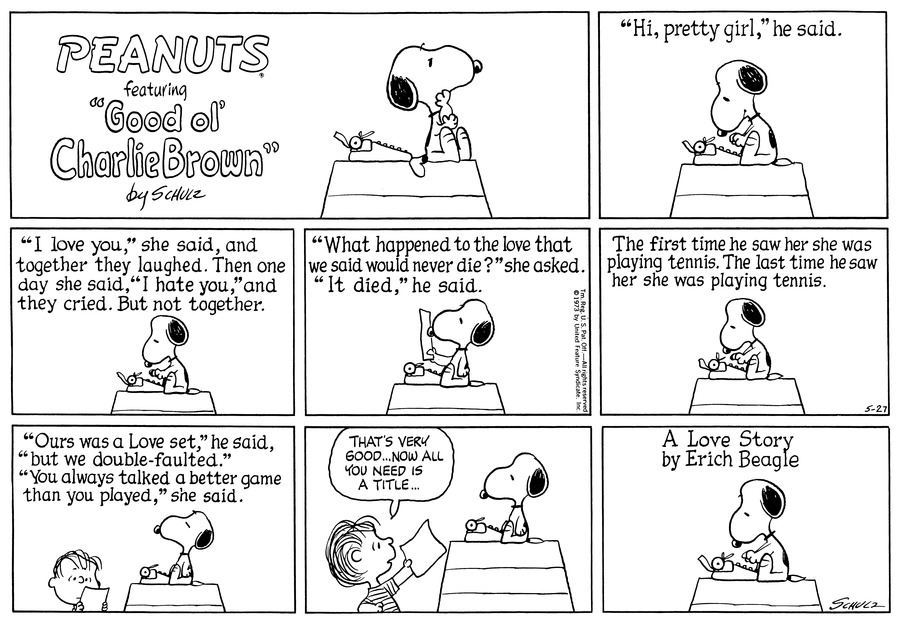 Peanuts Comic Strip for May 27, 1973