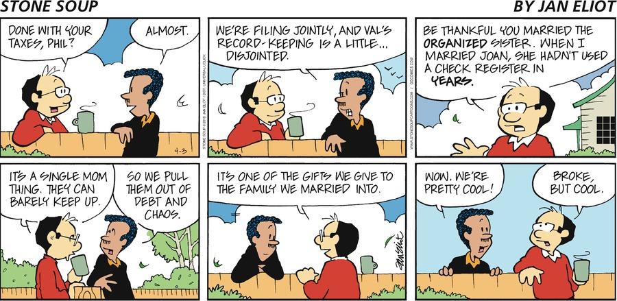 Stone Soup Comic Strip for April 03, 2016