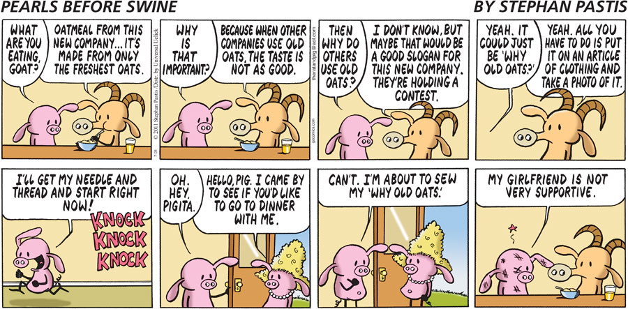 Pearls Before Swine Comic Strip for July 31, 2011