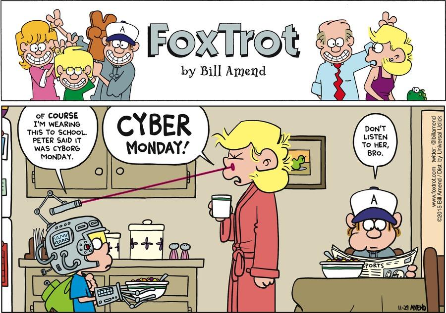 FoxTrot Comic Strip for November 29, 2015