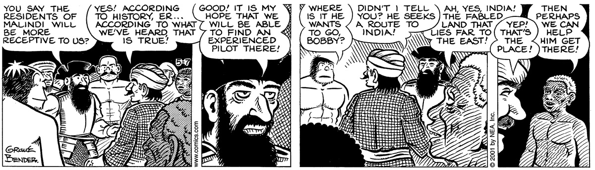 Alley Oop for May 7, 2001 Comic Strip