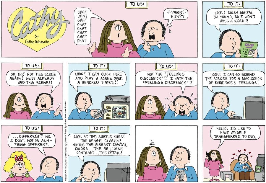Cathy for Feb 24, 2013 Comic Strip