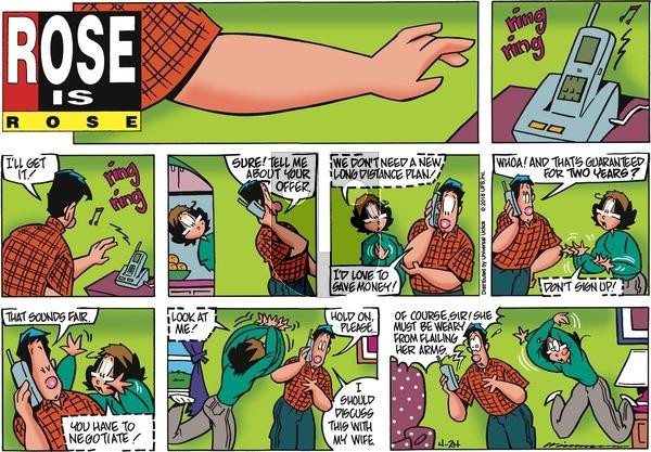 Rose is Rose on Sunday April 24, 2016 Comic Strip