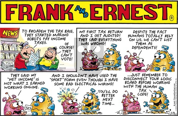 Frank and Ernest on Sunday April 26, 2015 Comic Strip