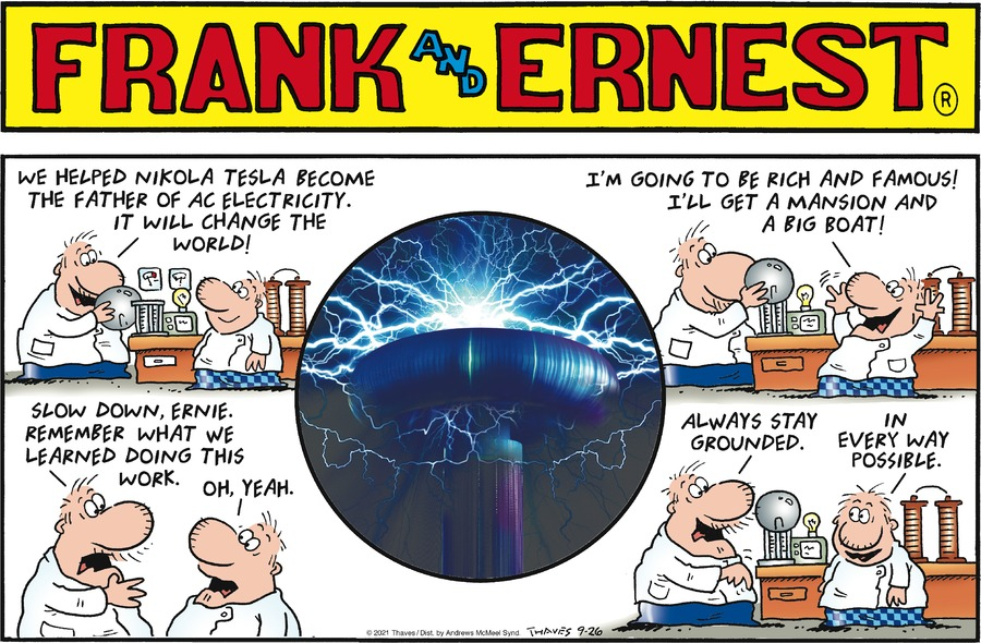 Frank and Ernest Comic Strip for September 26, 2021