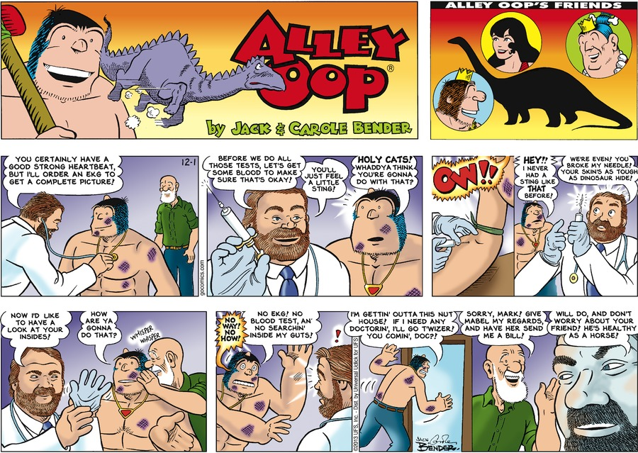 Alley Oop Comic Strip for December 01, 2013