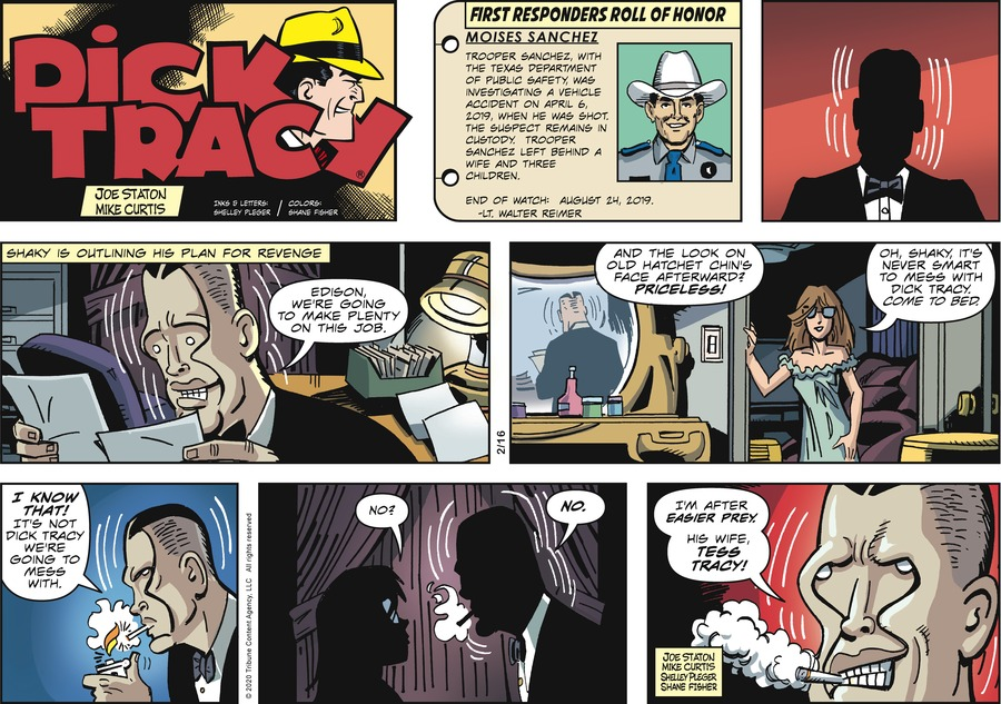 Dick Tracy Comic Strip for February 16, 2020