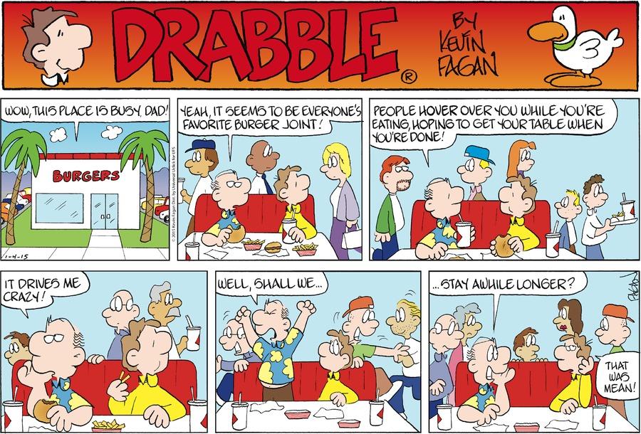 Drabble for Jan 4, 2015 Comic Strip