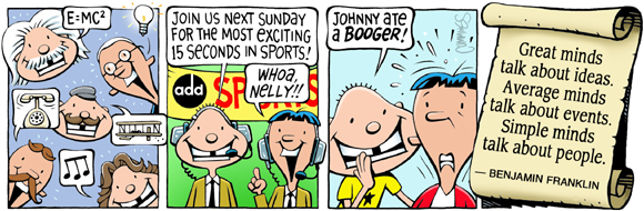 Brain Squirts Comic Strip for June 01, 2020