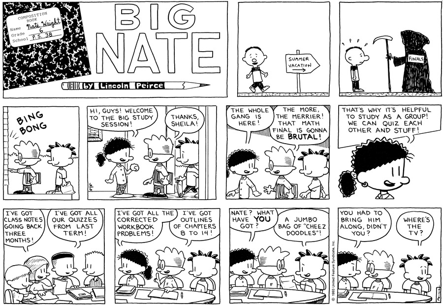 Big Nate Comic Strip for June 06, 1993