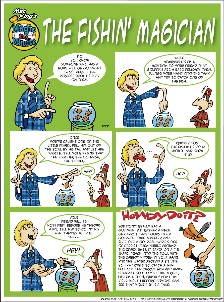 Magic in a Minute by Mac and Bill King for July 28, 2019