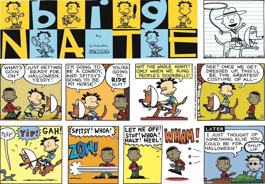 Big Nate Comic Strip for October 27, 2013