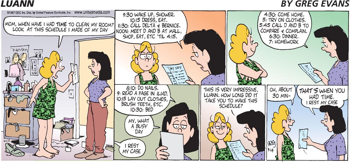 Luann Comic Strip for September 14, 1997
