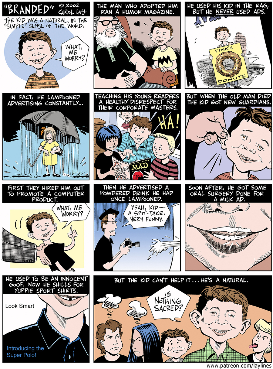 Lay Lines Comic Strip for February 08, 2021