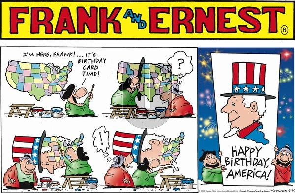 Frank and Ernest on Sunday June 30, 2019 Comic Strip