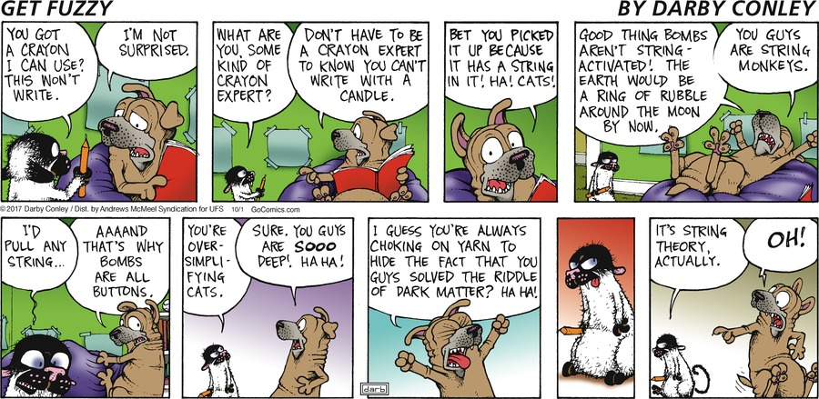 Get Fuzzy for Oct 1, 2017 Comic Strip