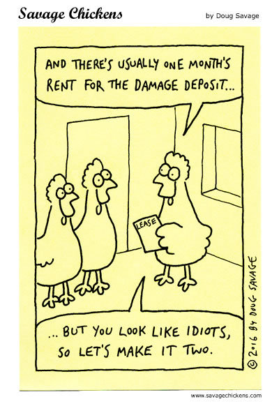 Savage Chickens Comic Strip for April 07, 2020
