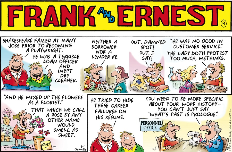 Frank and Ernest Comic Strip for March 01, 2015