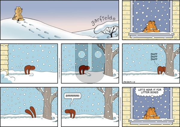 Garfield on Sunday January 19, 2020 Comic Strip