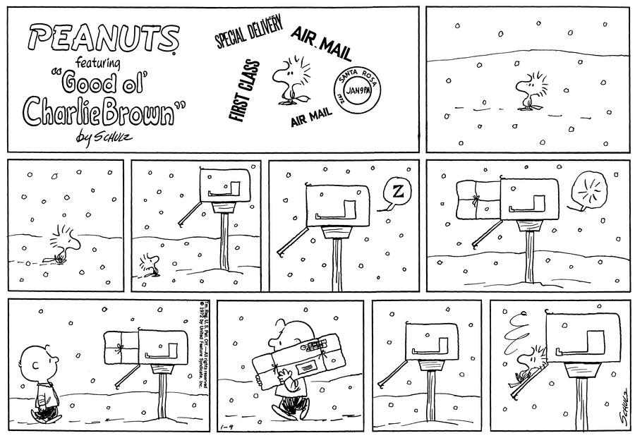 Peanuts Comic Strip for January 09, 1972
