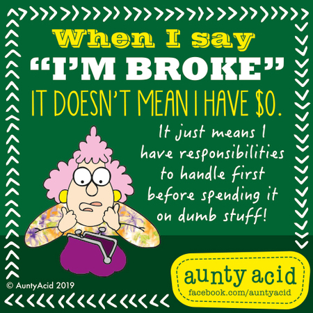 Aunty Acid by Ged Backland for March 05, 2019
