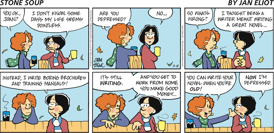 Stone Soup Comic Strip for March 18, 2018