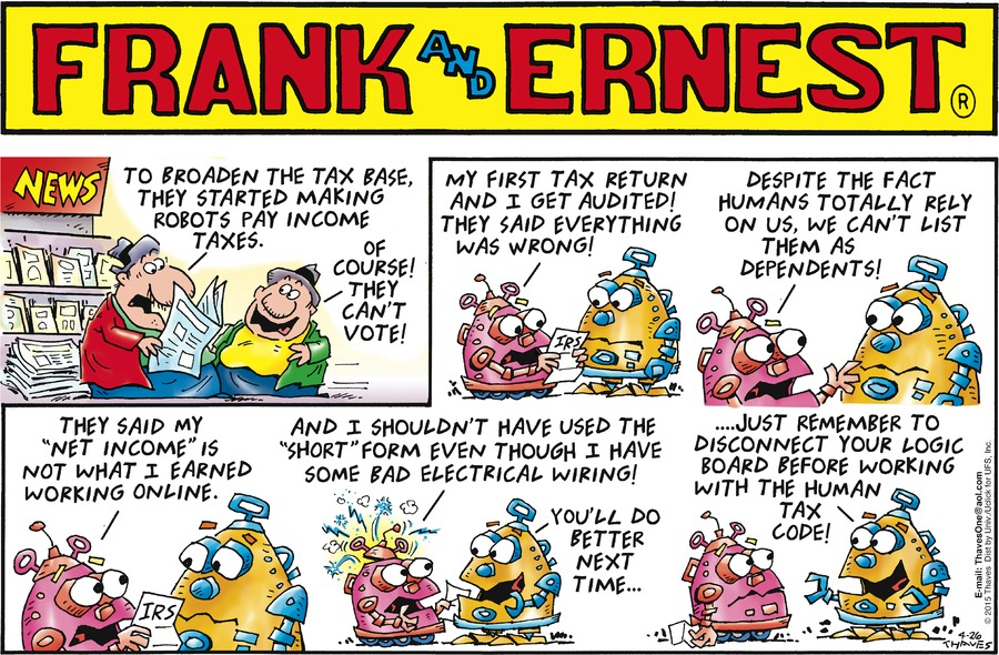 Frank and Ernest Comic Strip for April 26, 2015