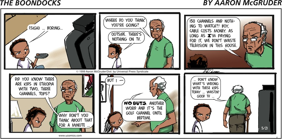 The Boondocks Comic Strip for August 01, 2021