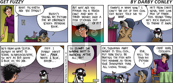 Get Fuzzy on Sunday April 1, 2007 Comic Strip